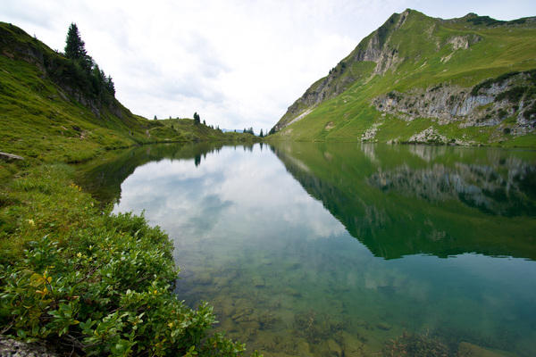 Seelapsee, Oberstdorf. Small lake high above Oytal.