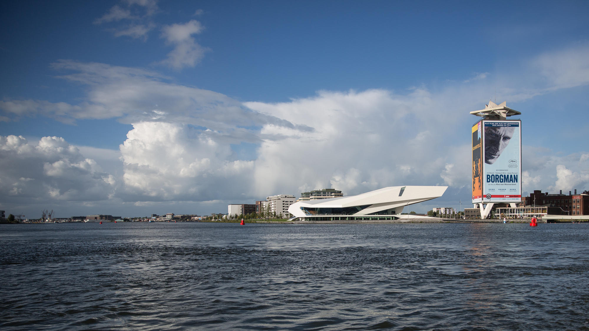 The EYE Film Institute Netherlands is a nice built film museum and cinema building with interesting exhibitions.