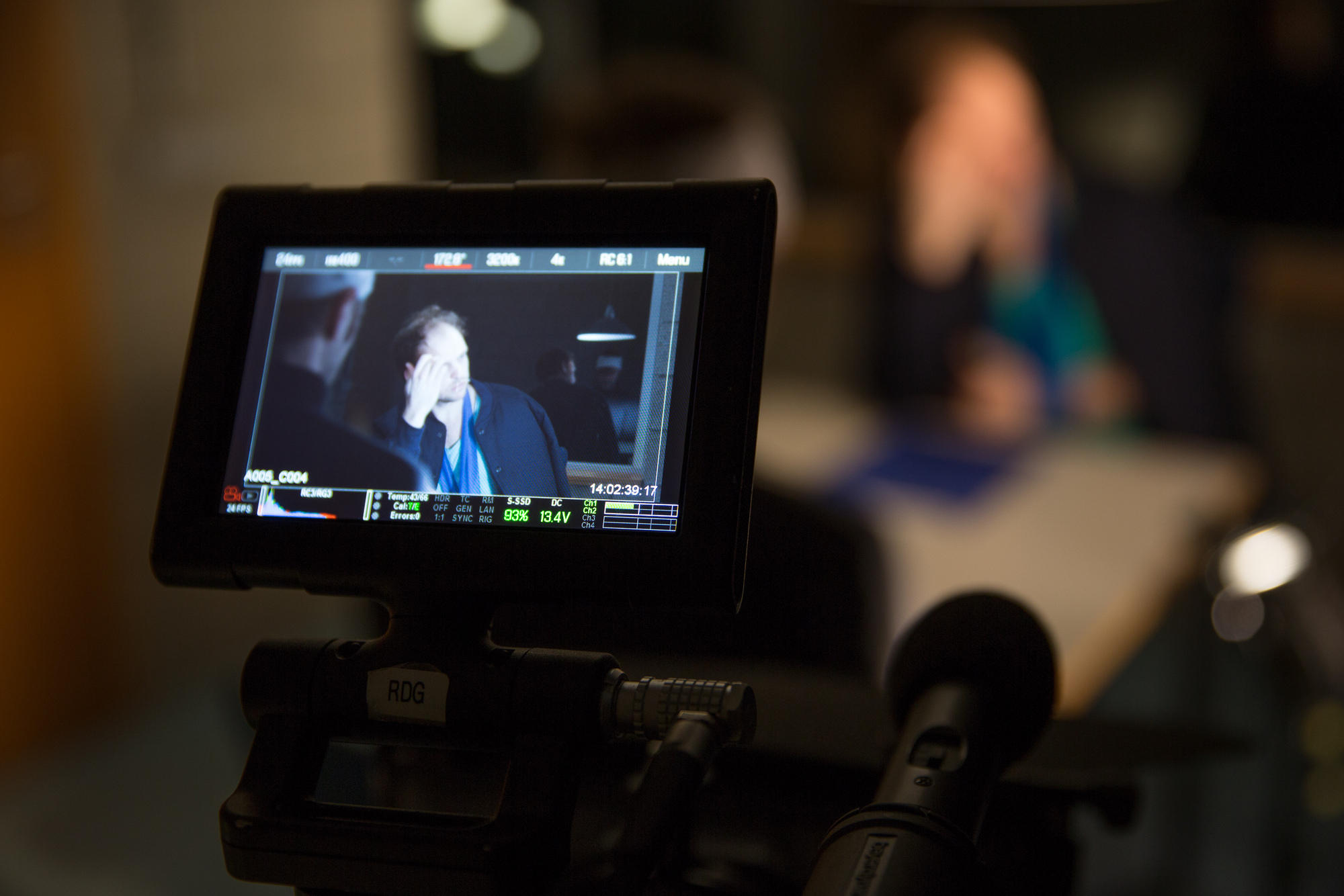 "A look on the viewfinder/monitor of the RED Scarlet on set of short film ""Actus Reus"""
